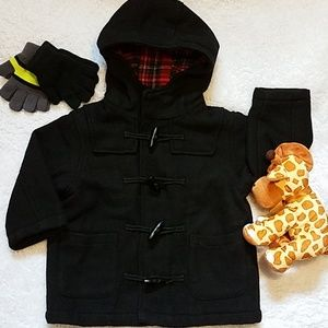 HP!💕Toddler Black Toggle Closure Hooded Coat  3T